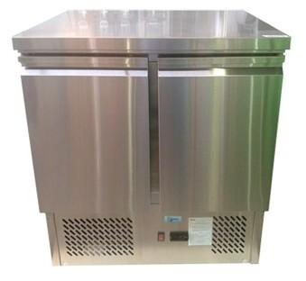 Mesón Refrigerado Cubierta de Mármol 2 Puertas de Metal 90 cms. 300 lts.