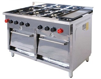 Cocina Industrial 6 Quemadores con 2 Hornos y Plancha 1